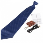 Mini 8GB Hidden Neck Tie Covert Camera Motion Recorder DVR - Dark Blue