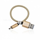 2PCS 3.4A USB 3.1 Art-C zu USB 2.0 Aufladenkabel-golden (20cm)