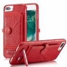 BLCR PU Leather Case with Card Slots for IPHONE 6S Plus, 6 Plus - Red