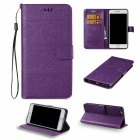 BLCR Elephant Pattern PU, TPU Wallet Case for IPHONE 7 Plus - Purple