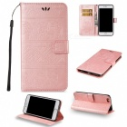 BLCR Elephant Pattern PU Wallet Case for IPHONE 7 Plus - Rose Golden