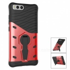 Protective TPU, PC Back Case with Holder Stand for Xiaomi 6 - Red