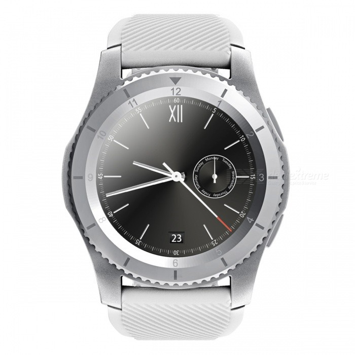 NO.1 G8 MT2502 Blood Pressure SIM Card Smartwatch-  Silver, WhiteSmart Watches<br>Form  ColorSilver+WhiteModelG8Quantity1 pieceMaterialStainless Steel + TPUShade Of ColorSilverCPU ProcessorMTK2502Screen Size1.3 inchScreen Resolution240 x 240 pixelTouch Screen TypeCapacitive ScreenNetwork Type2GCellularGSMSIM Card TypeNano SIMBluetooth VersionBluetooth V4.0Operating SystemNoCompatible OSSupport  with Android system and IOS systemLanguageChinese, English, French, Russian, German, Spanish, Portuguese, Italian, TurkishWristband Length23 cmWater-proofOthers,Life waterproofBattery ModeNon-removableBattery TypeLi-polymer batteryBattery Capacity300 mAhStandby Time72 hoursCertificationCEPacking List1 x No.1 G8 Smart watch1 x Charging Cable (Micro USB)1 x Chinese-English User Manual1 x Gift Green Silicone strap<br>