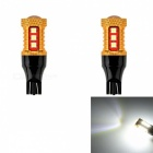 JRLED T15 10W Cold White 3030 SMD 15 LED Car fog Lamps (DC12-24V 2PCS)
