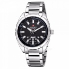 NAVIFORCE 9038 Men Sports Metal Wrist Quartz Watch - Silver, Black