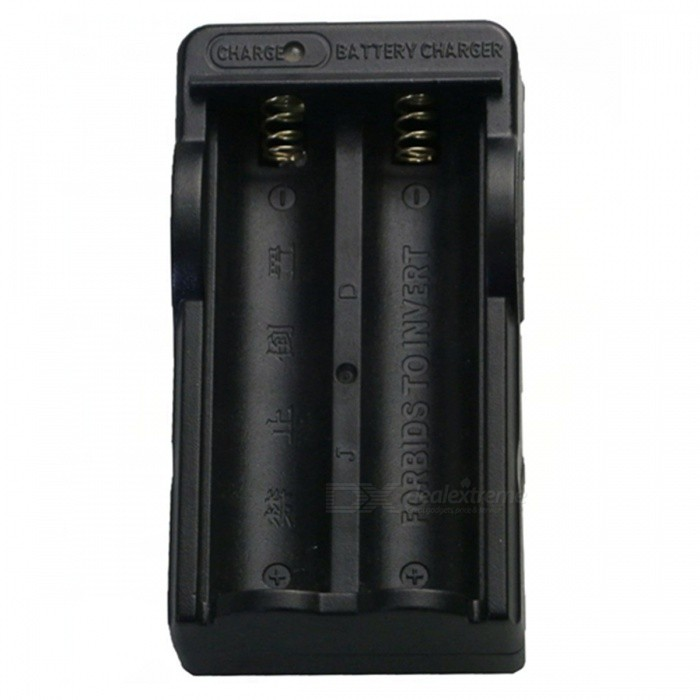 SZFC 18650 Lithium Battery Dual-Slot Charger - Black (US Plugs)Chargers<br>Form  ColorBlackPower AdapterUS PlugsModel18650Quantity1 pieceMaterialABSCharging Cell TypeLithium IonCharging Battery Type18650Rechargeable Battery Qty2Target Country &amp; RegionUnited States/Japan.EtcBuilt-in Protected CircuitYesInput VoltageAC100-240 VOutput VoltageDC 4.2 VMax. Output Current650 mAFast Charging FunctionNoLCD ScreenNoAuto Circuit DetectionNoIndicatorThe charger will charge the battery when plug in,and the indicator light display in red,then turn into green after fully chargedOver Voltage ProtectionYesShort-Circuit ProtectionYesOver-Charging ProtectionYesOver-Discharging ProtectionYesPacking List1 x Charger<br>