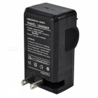 SZFC 18650 Lithium Battery Dual-Slot Charger - Black (US Plugs)