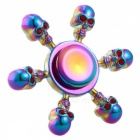 OJADE Skull Skeleton Head Shape Fingertip Gyro Spinner - Multicolor