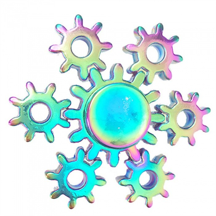 OJADE Rainbow Gear Fidget Hand Spinner EDC Focus Stress Relief Toy