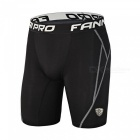 Outdoor Running Soccer Playing Riding Sports Shorts - Black (2XL)