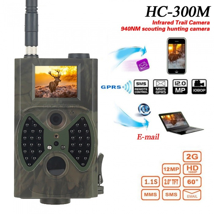 hc300m 12mp hunting wireless camera for outdoor wild surveillance free shipping dealextreme. Black Bedroom Furniture Sets. Home Design Ideas