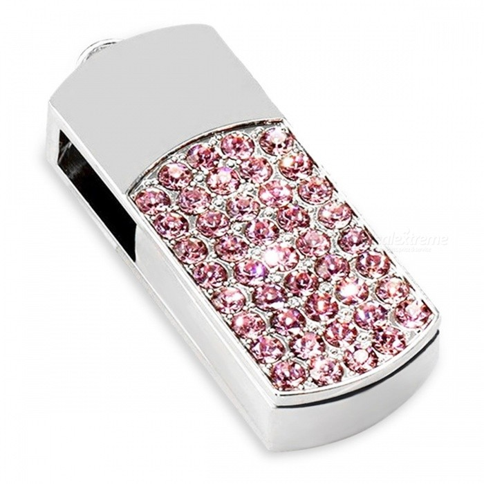 Färgrik Diamond Fashion U Disk USB Flash Drive - Rosa (16GB)