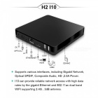 H2 I10 čtverec-core Android 4,4 Smart TV Box 1 GB RAM, 8 GB ROM EU Plug
