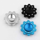 OJADE 10-Gear Shape Hand Spinner Toy for ADD Kids, Adults - Black