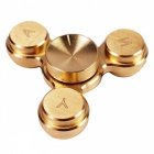 OJADE Mini Brass Hand Triangle Spinner EDC Fidget Foucs Toy-gyllene