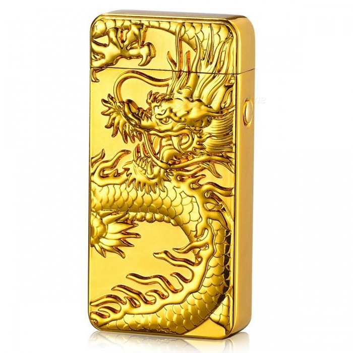 ZHAOYAO Embossed Dragon Pattern USB Rechargeable Cigarette Lighter