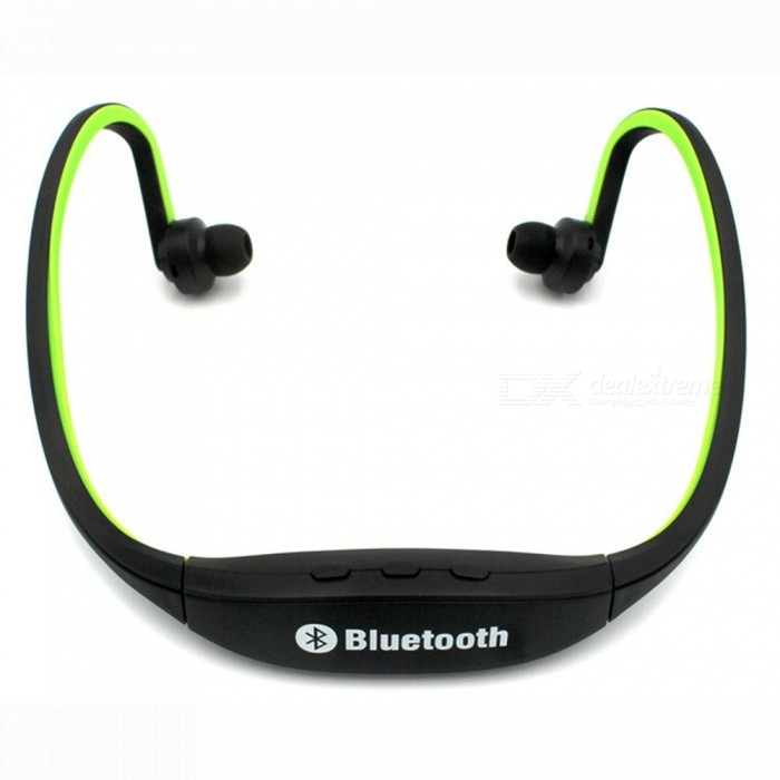 Eastor S9 Sports Bluetooth Neckband Earphone with Mic - GreenHeadphones<br>Form  ColorGreenBrandOthers,EastorModelS9MaterialPlasticQuantity1 setConnectionBluetoothBluetooth VersionBluetooth V3.0Operating Range10MHeadphone StyleBilateral,In-Ear,NeckbandWaterproof LevelOthers,SweatproofApplicable ProductsUniversalHeadphone FeaturesPhone Control,Long Time Standby,Noise-Canceling,Volume Control,With Microphone,Lightweight,Portable,For Sports &amp; ExerciseSupport Memory CardNoSupport Apt-XNoSensitivity123dBFrequency Response20-2000HzImpedance16 ohmBattery TypeLi-polymer batteryBuilt-in Battery Capacity 400 mAhStandby Time400 hoursTalk Time4-6 hoursMusic Play Time4-6 hoursPower AdapterUSBPower SupplyDC5VPacking List1 x Bluetooth Headset1 x USB Cable<br>