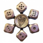 Dayspirit Dice Shape Fidget Releasing Hand Spinner - Red Brass