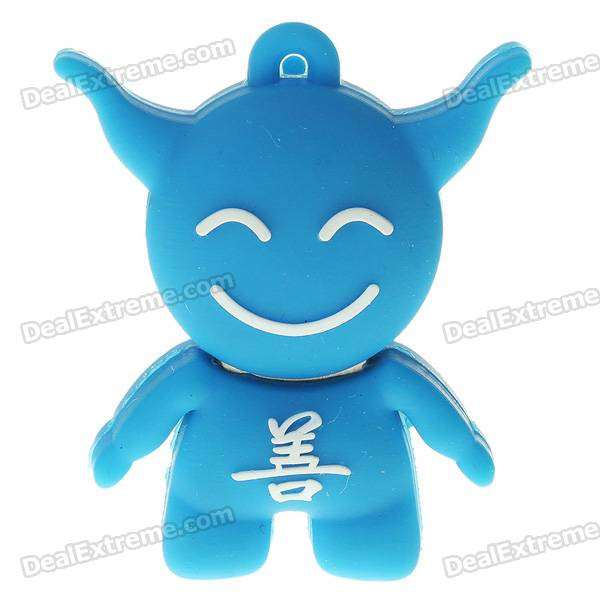 Cute Cartoon Villain Figure Style USB Flash/Jump Drive - Blue (8GB) palm style usb flash drive blue 8gb