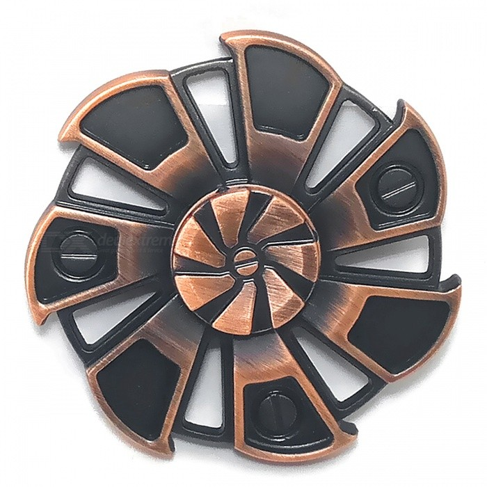 7-Leaf Wind Wheel Shape Stress Relief Fidget Spinner - Purple Bronze