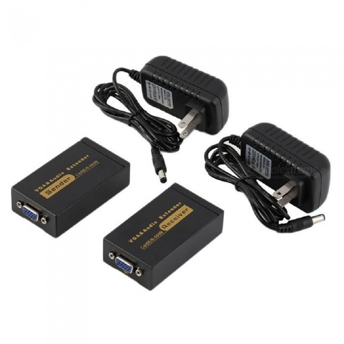 100m 328 tuuman VGA Video Audio Extender - musta