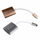 Super Speed ​​USB 3.0 Typ-C SD TF Minneskortsläsare-silver