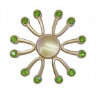 Dayspirit 12-Ruby Decorated Stress Relief Finger Spinner - Green