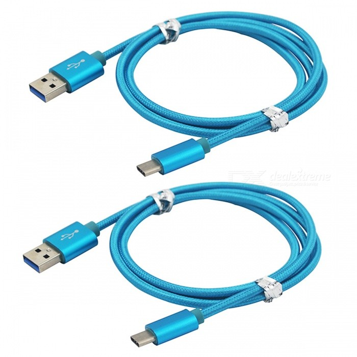 USB 3.1 Type-C to USB 2.0 Charging Data Cables - Blue (2 PCS, 1m)Cables<br>Form  ColorBlueMaterialABSQuantity2 piecesCompatible ModelsHUAWEI P9/P9 lite/G9 plus/mate 9/P9 plus/Nova/Nova plusCable Length100 cmConnectorUSB Type-C 3.1Packing List2 x Cables<br>
