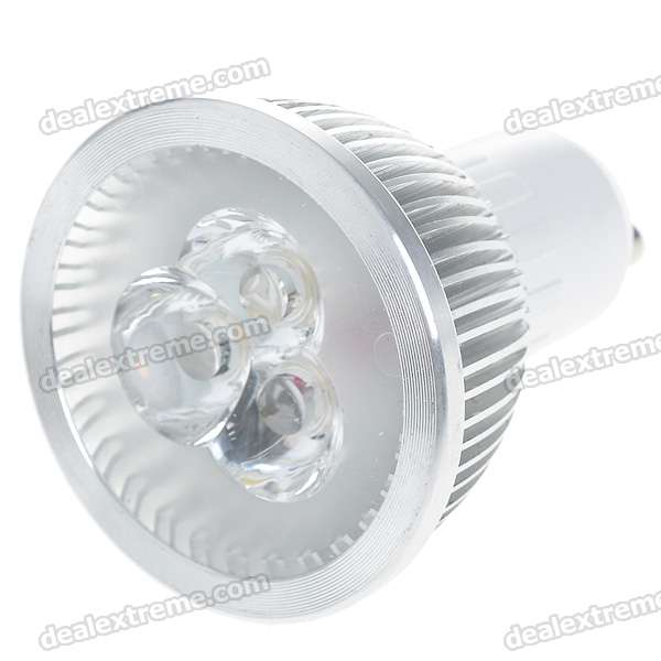 GU10 3W 240LM 3200K Warm White Light 3-LED Cup Bulb (220V AC)