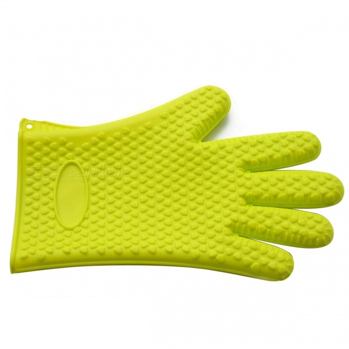 P-TOP Antiskid Microwave Oven Heat Insulation Silicone Glove - Green