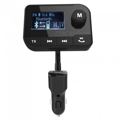 Bluetooth FM Transmitter Radio Adapter Car Kit with 2.0 Inch Display