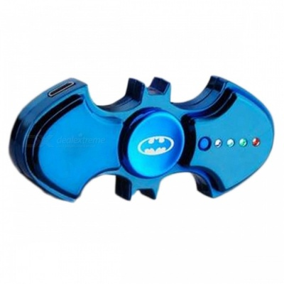 ZHAOYAO Bat Style USB Charging Lighter Hand Spinner - Blue