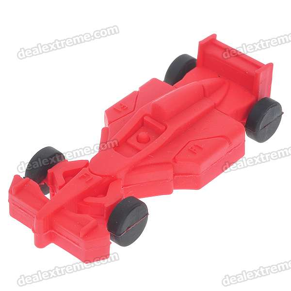 F1 Racer Car Shaped USB 2.0 Flash/Jump Drive - Red (4GB)