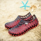 Summer Breathable Beach Slippers for Men - Red (Size 43)