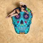 Fragrance 3D Print Skull Head Pattern Beach Scarf Sunscreen Shawl