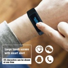 Bracelet intelligent avec mémoire Modes de sports multiples Health Tracker-plonger dans le noir