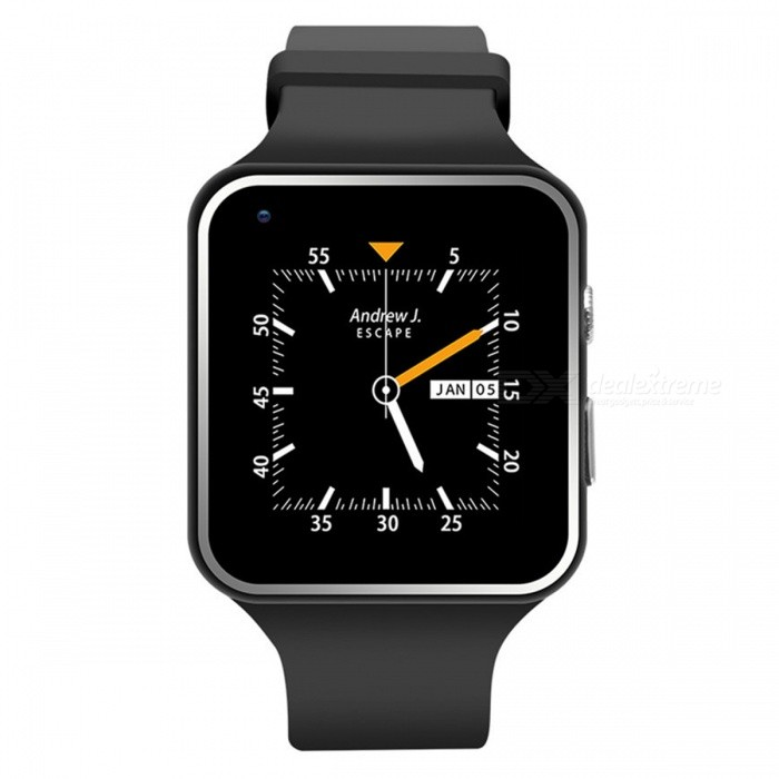 X6S-3G 1.54 inches Smartphone Watch MT6572 Dual-Core 1.2GHz - BlackSmart Watches<br>Form  ColorBlackModelX6S-3GQuantity1 pieceMaterialSilica gel + ABSShade Of ColorBlackCPU ProcessorMT6572   Dual core1.2Gor 1GScreen Size1.54 inchScreen Resolution240 x 240Touch Screen TypeOthers,Parallel port LCDNetwork Type2G,3GCellularWCDMA,GSMSIM Card TypeNano SIMBluetooth VersionBluetooth V4.0Operating SystemAndroid 4.4.2Compatible OSAndroidLanguageChinese, English, multi language,,,Wristband Length25 cmWater-proofOthers,Life waterproofBattery ModeReplacementBattery TypeLi-ion batteryBattery Capacity380 mAhStandby Time72 hoursPacking List1 x Intelligent Watch1 x English instruction1 x USB charging line1 x Exquisite packing box<br>