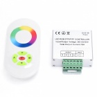 BRG LED 5-Key Half Touch Full Färg Dimmer Controller-silver