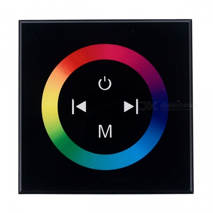 BRG LED Touch Panel Light Dimmer Controller för RGB Led Strip - Svart