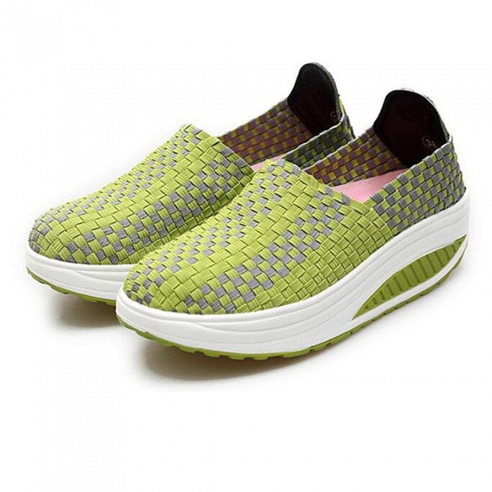 1688 Summer Breathable Sports Shoes for Women - Green (Size 36)