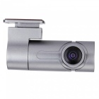 Portable Mini Single Lens 360 Degree Wi-Fi Car DVR Camera - Silver