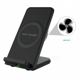 Mindzo Fast Wireless Charger w/ Cooling Fan / 2 Coils Qi Charge Stand