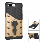 TPU PC Back Case with 360 Degree Rotary Stand for Oneplus 5 - Golden