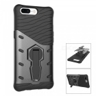 TPU PC Back Case with 360 Degree Rotary Stand for Oneplus 5 - Black