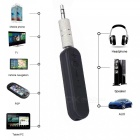 3.5mm Plug Wireless Car Bluetooth Aux Music Receiver - Black