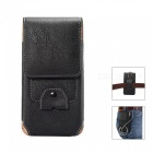 Universal Leather Case for 4.7-5.1 inches Smartphones - Black