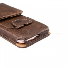 Universal Leather Case for 4.7-5.1 inches Smartphones - Deep Brown