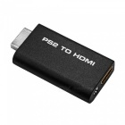 PS2 to HDMI Audio Video AV Adapter with 3.5mm Audio Output - Black