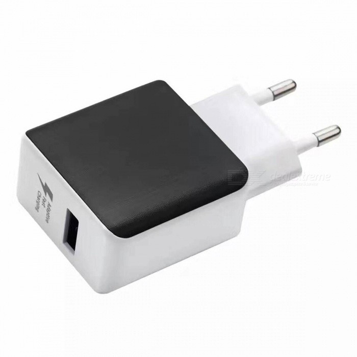 KELIMA Portable 2.5A Quick Charge USB Charger - White (EU Plug)