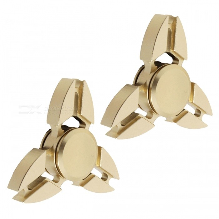 Dayspirit Tri-Clamp Style Fidget Hand Finger Spinners - Golden (2PCS)